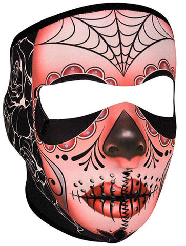 Sugar Skull Full Face Mask, Face Masks - Fat Skeleton UK