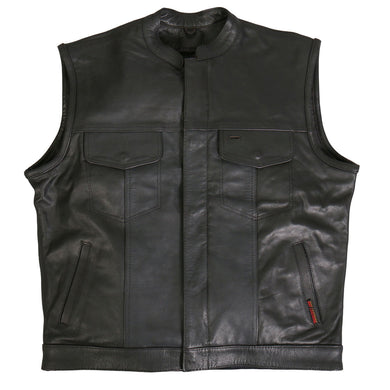Club Style Leather Waistcoat / Cut, Leather Clothing - Fat Skeleton UK