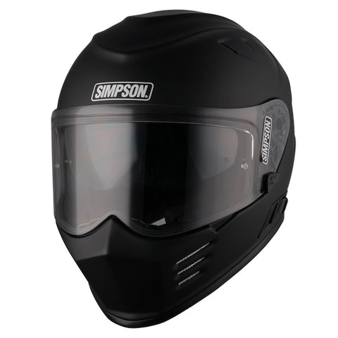 Simpson Venom Full Face Motorcycle Helmet Matt Black
