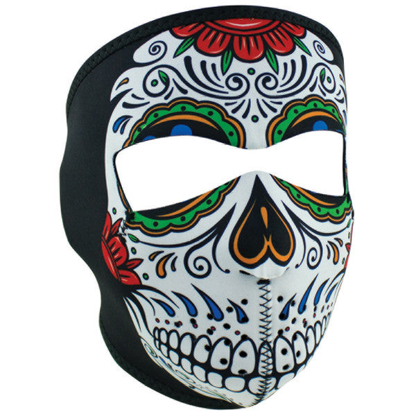 Muerte' Sugar Skull Full Face Mask, Face Masks - Fat Skeleton UK