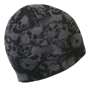 Ancient Skulls Beanie, Clothing Accessories - Fat Skeleton UK