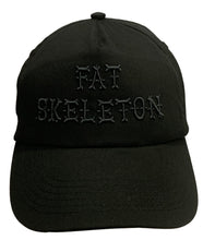 Fat Skeleton ™ 3D Black Embroidered Baseball Cap