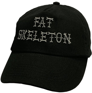 Fat Skeleton ™ 3D Silver Grey Embroidered Baseball Cap