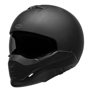 Bell Broozer Hemet Full / Open Face Matt Black Cruiser Helmet, Open Face Helmets - Fat Skeleton UK