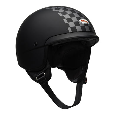Bell Cruiser Scout Air Low Profile  Matt & Check ECE approved Open Face Helmet, Open Face Helmets - Fat Skeleton UK