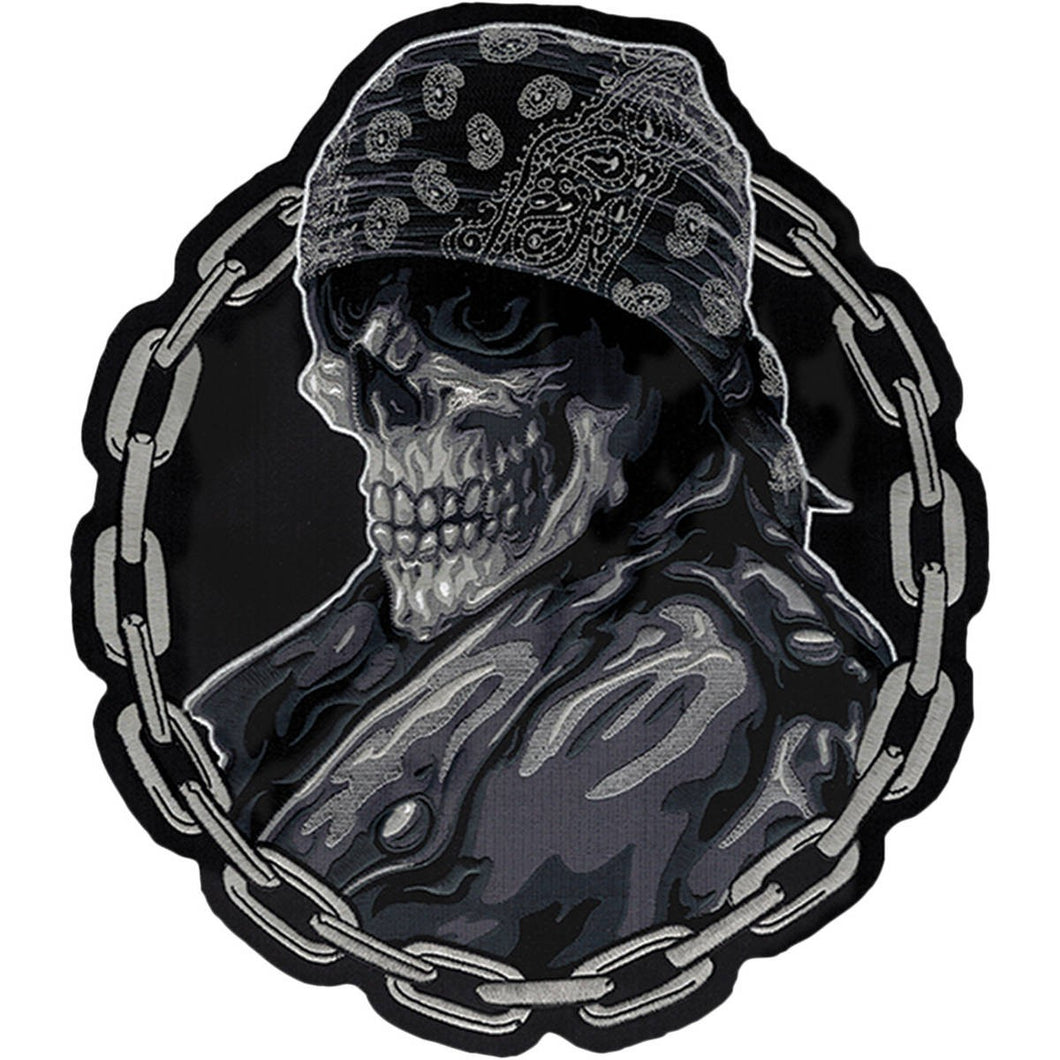 Lethal Threat Biker From Hell sew on patch LT30181, Lifestyle Accessories - Fat Skeleton UK