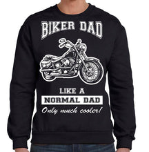 Biker Dad Sweatshirt, Mens Clothing - Fat Skeleton UK