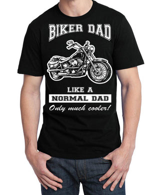 Biker Dad T Shirt, Mens Clothing - Fat Skeleton UK