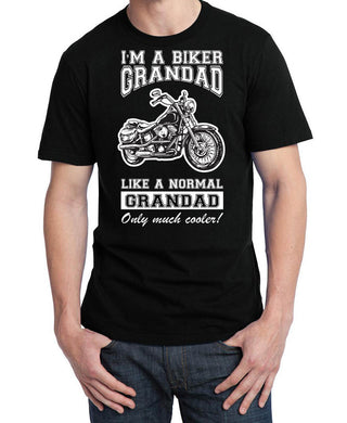 Biker Grandad T Shirt, Mens Clothing - Fat Skeleton UK