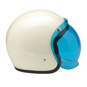 Biltwell Old School Blue Visor for Open face Helmets, Helmet Visors - Fat Skeleton UK