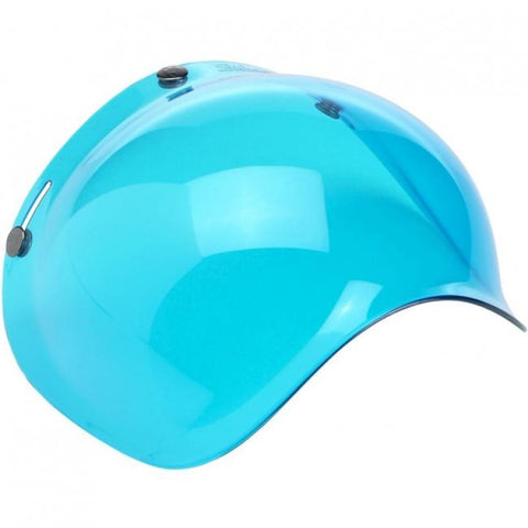 Biltwell Old School Blue Visor for Open face Helmets, Helmet - Fat Skeleton UK