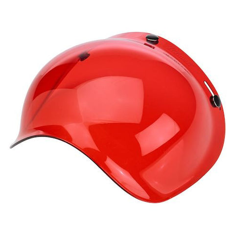 Biltwell Old School Red Visor for Open face Helmets, Helmet - Fat Skeleton UK