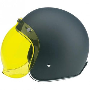 Biltwell Old School Yellow Visor for Open face Helmets, Helmet Visors - Fat Skeleton UK