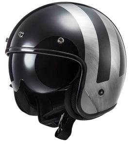 LS2 BOB Low Profile Lines Jeans ECE approved Open Face Helmet with drop down visor (& Freebies)