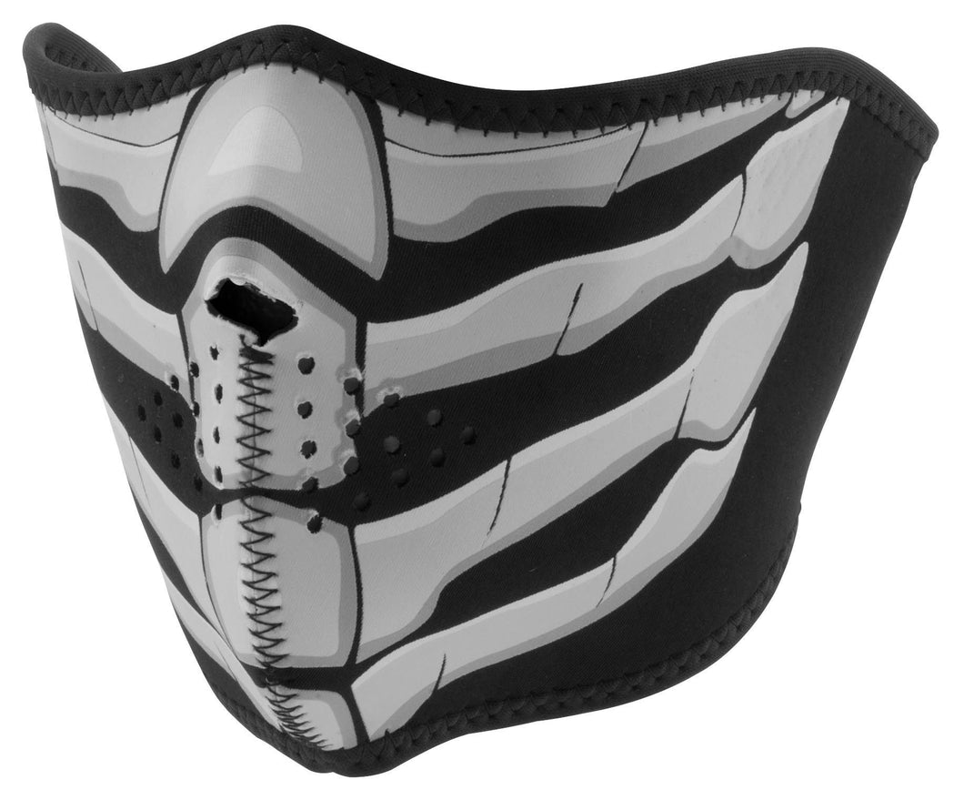 Zan Bone Breath Glow in Dark Half Face Mask, Neck Warmers & Face Masks - Fat Skeleton UK
