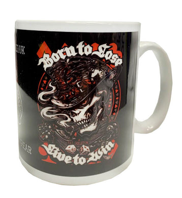 Fat Skeleton Born to Lose-Live to Win Mug