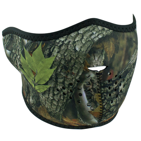 Zan Woodland Camo Half Face Mask, Face Masks - Fat Skeleton UK