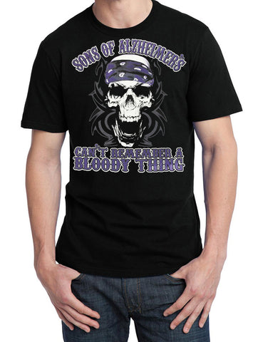 "Sons of Alzheimer's Can't Remember a Bloody Thing Skull ""Charity"" T Shirt"