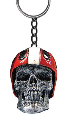 Helmet Skull Key Ring by Skullptures, Lifestyle Accessories - Fat Skeleton UK