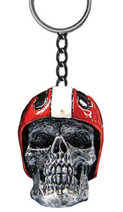 Helmet Skull Key Ring by Skullptures