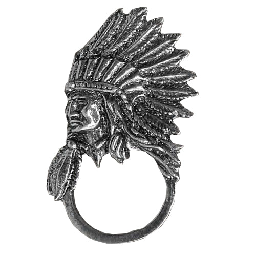 Indian Chief Pewter Badge & Sunglasses Holder, Lifestyle Accessories - Fat Skeleton UK