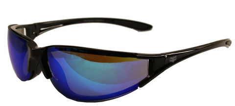 Chopper Style BLUE G TECH lens Biker Wraps by Fat Skeleton, Eyewear - Fat Skeleton UK