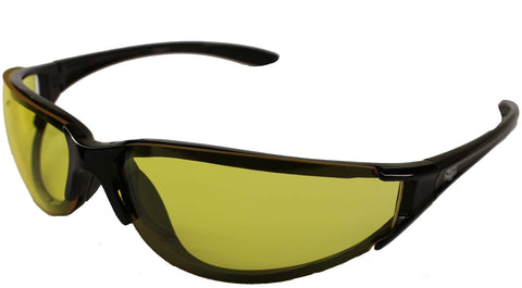 Chopper Style Biker Wraps Yellow Low Light Lens by Fat Skeleton, Eyewear - Fat Skeleton UK