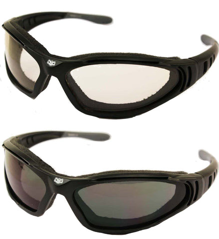 Fat Skeleton Ultima 24 Foam padded Reactalite Rider Glasses