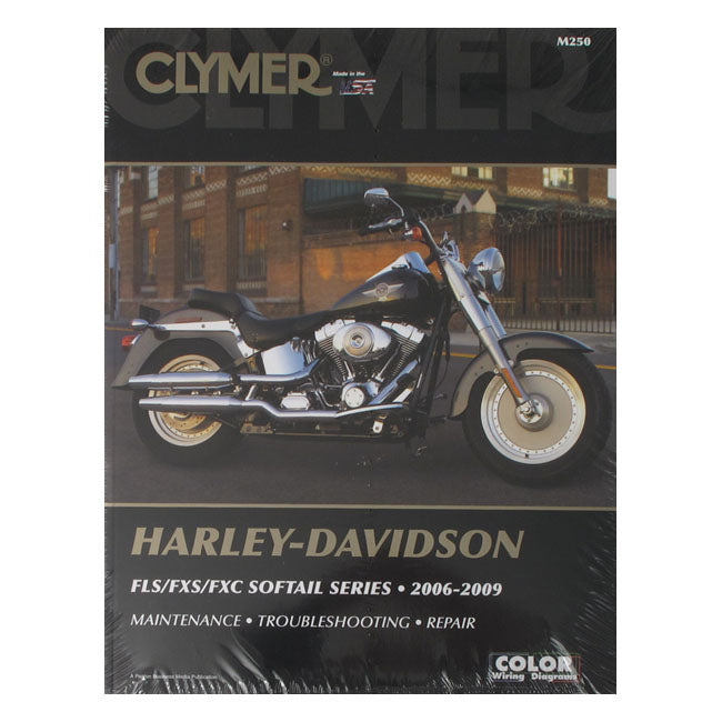 Clymer Manual for Harley Davidson Softail FLS/FSX/FXC 2006-09, Motorcycle Accessories - Fat Skeleton UK