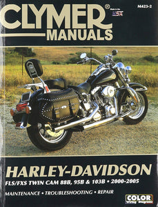 Clymer Manual for Harley Davidson FLS/FXS Twin cam 88B 95B & 103B 2000-2005, Motorcycle Accessories - Fat Skeleton UK
