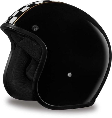Daytona Low Profile Open Face Cafe' Racer D.O.T. Open Face Helmet