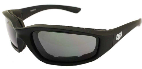 Fat Skeleton Daytona EVA Foam Padded Smoke Lens Sunglasses