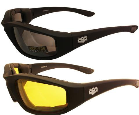 Yellow Lens Daytona EVA Foam Padded Reactalite, Eyewear - Fat Skeleton UK