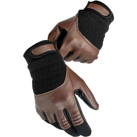 Biltwell  Bantam Chocolate & Black Motorcycle Gloves, Clothing Accessories - Fat Skeleton UK