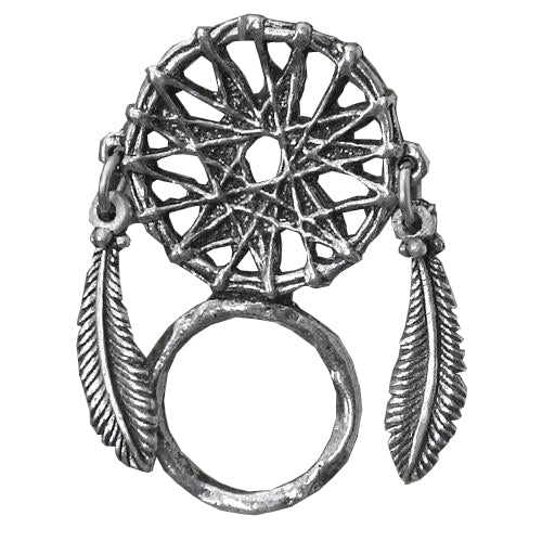Dreamcatcher Pewter Badge & Sunglasses Holder, Lifestyle Accessories - Fat Skeleton UK