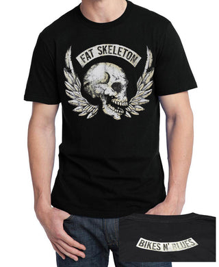 Fat Skeleton Bikes & Blues Festival T Shirt, Mens Clothing - Fat Skeleton UK
