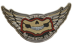 Fat Skeleton Enamel Pin Badge, Lifestyle Accessories - Fat Skeleton UK