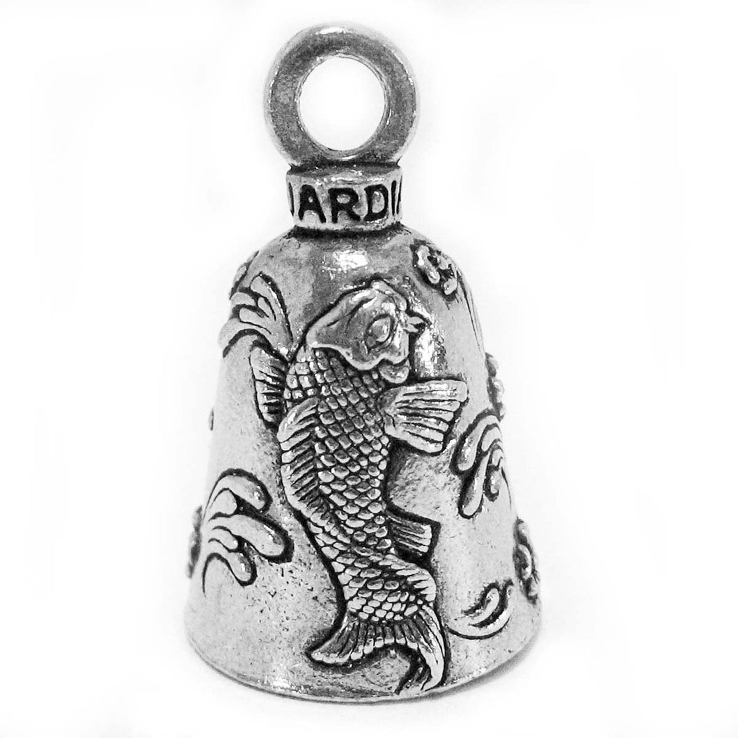 Lucky Koi Fish Guardian Angel Bell, Lifestyle Accessories - Fat Skeleton UK