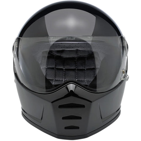 Biltwell Lane Splitter Gloss Black Full Face Helmet, Full Face Helmets - Fat Skeleton UK