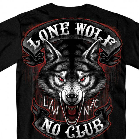 Lone Wolf No Club Mega Back Print T Shirt
