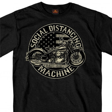 Social Distancing Machine Biker T Shirt LIMITED EDITION