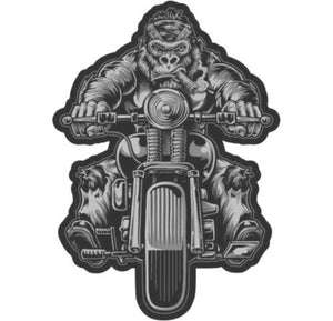 Lethal Threat Bobber Biker Gorilla LARGE sew on patch, Lifestyle Accessories - Fat Skeleton UK
