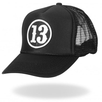 Lucky 13 Thirteen Mesh Back Trucker Cap, Clothing Accessories - Fat Skeleton UK