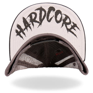Hardcore Knuckle Duster Mesh Back Trucker Cap, Clothing Accessories - Fat Skeleton UK