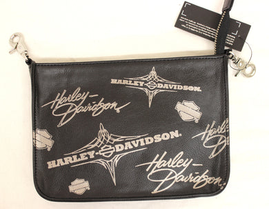Genuine Harley Davidson Ladies Leather Waist Clip Bag, Lifestyle Accessories - Fat Skeleton UK