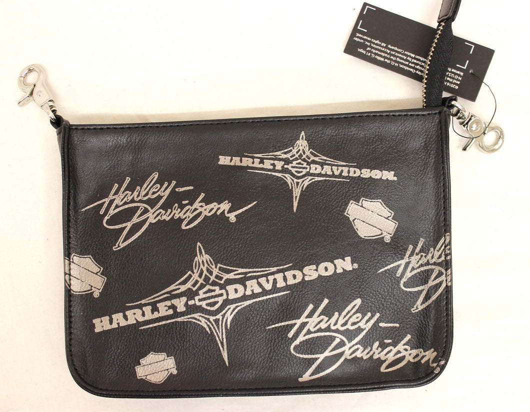 Genuine Harley Davidson Ladies Leather Waist Clip Bag, Accessories - Fat Skeleton UK
