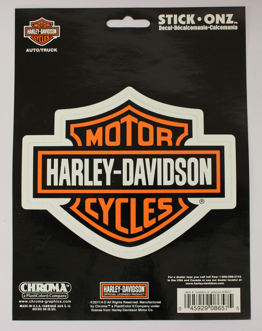 Genuine Harley Davidson Motorcycles Bar & Shield logo sticker, Lifestyle Accessories - Fat Skeleton UK