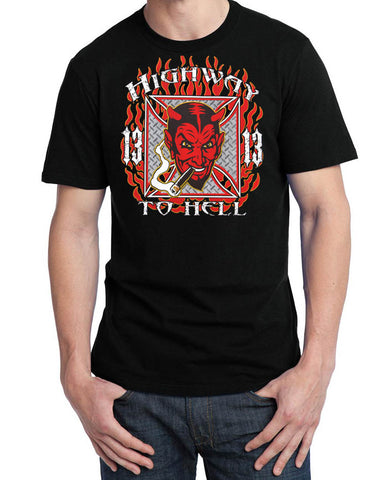 SALE 13 Highway to Hell Diablo Devil T Shirt