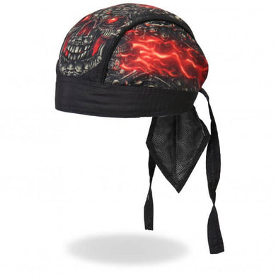 Inferno Skull of Skullsl Pre-Tied Zandana - Bandana, Clothing Accessories - Fat Skeleton UK