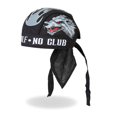 Lone Wolf  Pre-Tied Zandana - Bandana, Clothing Accessories - Fat Skeleton UK
